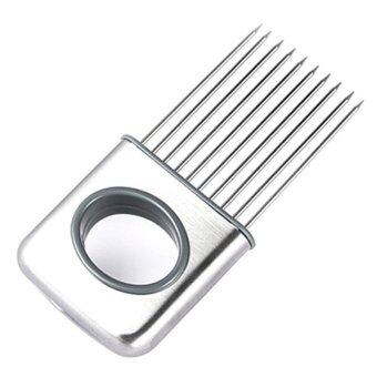 Harga Stainless Steel Onion Holder Slicer Meat needle