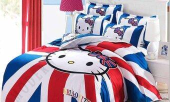 Harga Modern Age (K1) Hello Kitty Design Fitted Bedsheet With Quilt Cover