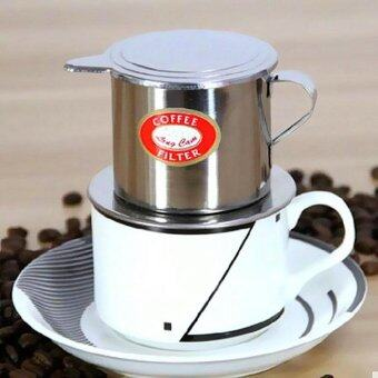 Harga Imixlot Stainless Steel Metal Vietnamese Coffee Drip Cup Filter Maker Strainer (Silver)