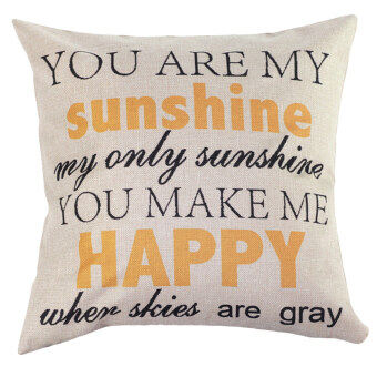 Harga Home Decor Cotton Letter Sunshine Throw Sofa Case Pillow Car Cushion Cover Bedding
