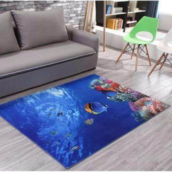 Harga Homestay deco friendly decals unique design home decoration wall sticker art picture DIY Creative 3D carpet home decoration (FlatFish)