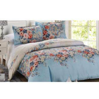 Harga Buy One get One Free! Velvet-Cotton Quilt Cover & Bed Sheet King Set (Alice)