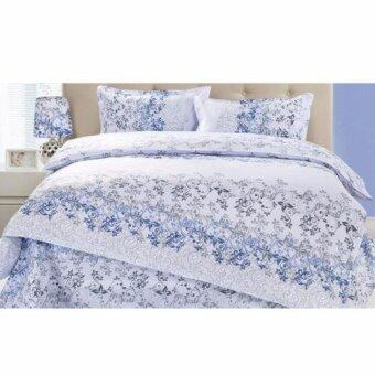 Harga Buy One get One Free! Velvet-Cotton Quilt Cover & Bed Sheet Queen Set (Spring)