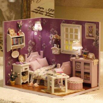 Harga DIY Sweet Sunshine Miniature Room Dream House Gift (Purple)