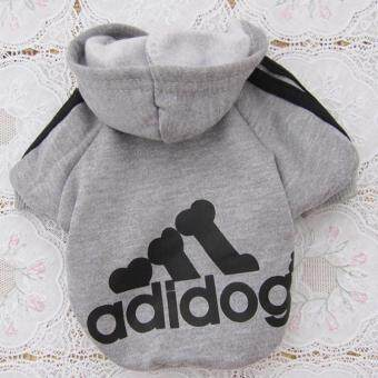 Harga Ai Home Pet Dog Clothing Hoodie Coat Clothes M (Grey)