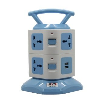 Harga ABM 8 Way Vertical Tower Socket with 2 USB Port