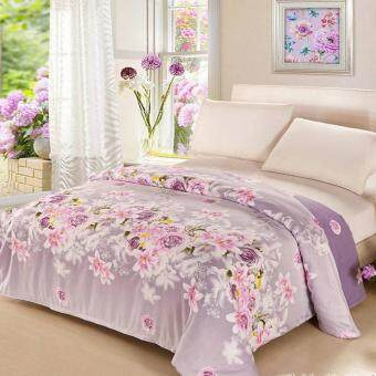 Harga Pure Cotton Twill Comforter Cover Printed Quilt Duvet Cover, Size: 180 x 220cm - Blooming Flowers