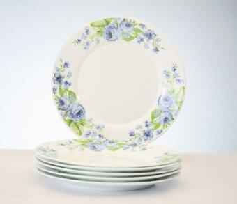 Harga Giacomo 25cm Decorated Opal Dinner Plate (Blutensia) - 6pcs