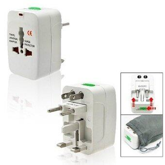Harga Universal International All in One Travel Adapter Charger (White)