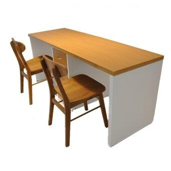 Harga S+ Natural Duo Writing Desk - Natural (L180cmXW60cmX73cm)