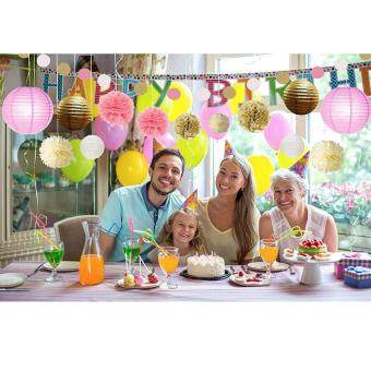 Harga Tissue Paper Pom Poms Flowers Paper Lanterns and Polka Dot Paper Garland for Wedding Party Decorations