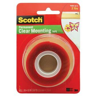 Harga Scotch Mounting Tape 4010 Clear, 1 in x 60 in x .02 in (25.4 mm x 1.51 m)