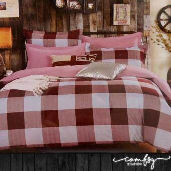 Harga Comfsy 900 threadcount Fashional Choco Browish Box 5 in 1 Cotton Design Bedding with Quilt Cover