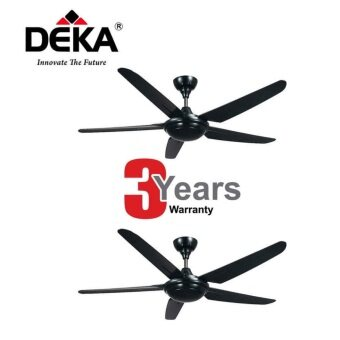 Harga Kronos Deka 56'' Ceiling Fan With Remote Control-F5-P 5 Blade Twin Pack (Black)