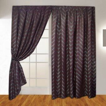 Harga Essina French Pleated Curtain Jacquard 1Layer Sliding Door - Domini