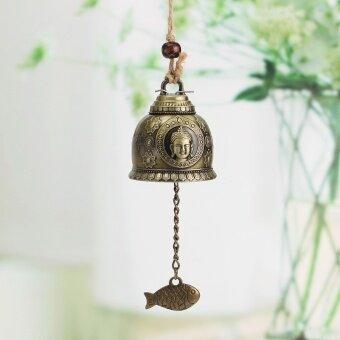 Harga Chinese Buddha Fish Feng Shui Bell Blessing Good Luck Fortune Hanging Wind Chime