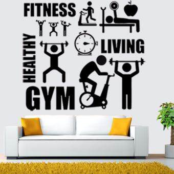 Harga Gym wall stickers