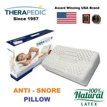 Harga Therapedic USA Leading Brand Anti-Snore 100% latex pillow - neck care - spine correctly alligned - no toxic substances