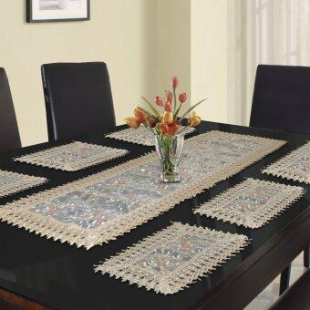 Harga Essina Primrose 1pc Table Runner + 6pcs/set placemat