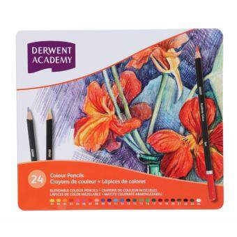 Harga Derwent Academy Colour Pencils 24's