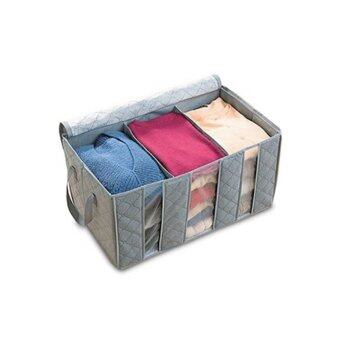 Harga Charcoal Fabric Storage Box Cloth Organizer 65L(Gray)
