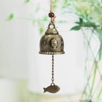 Harga 2PCS Chinese Buddha Fish Feng Shui Bell Blessing Good Luck Fortune Hanging Wind Chime