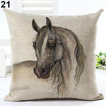 Harga Broadfashion 18 inch Watercolor Horse Sofa Cushion Cover Fashion Pillow Case Home Car Decor 21. Old Horse