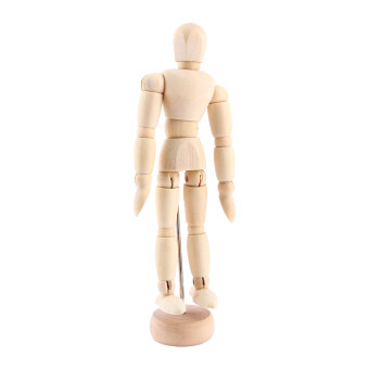 Harga Artist Movable Limbs Male Wooden Figure Model Mannequin Art Sketch draw 4.5 inch