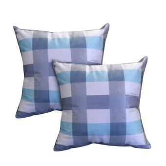 Harga Essina Venin Blue 43x43 Cushion Cover + Infill 2pcs/set
