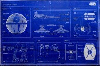 Harga Star Wars Imperial Fleet Blueprint - Pyramid International Poster (61 cm X 91.5 cm)