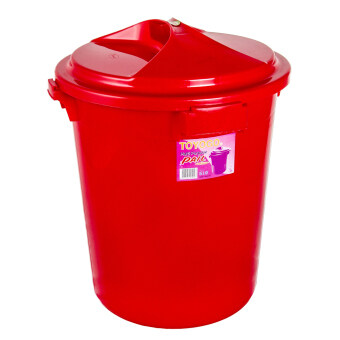 Harga Toyogo Water Pail with Lid 75 Lit (Red)
