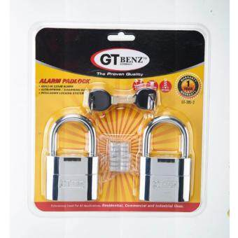 Harga GT Benz 2 In 1 Alarm Padlock 2pcs (German Technology) + Local Manufacturer Warranty