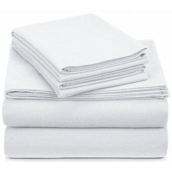Harga Pack of 3 White Flat Sheets With Free Pillowcases – Hotel Series - RAYA Promotion