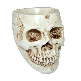 Harga Human Skull Head Design Ashtray Container Replica Creative Home Bar Decor