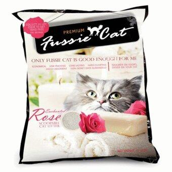 Harga Fussie Cat Scented Litter Enchanted Rose 10L x 2 Packs
