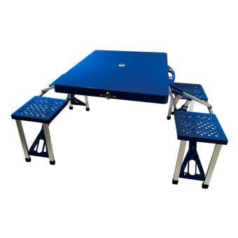 Harga F&F: Foldable & Portable Picnic Table with 4 Seats - Blue