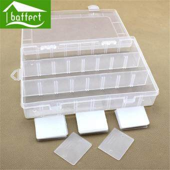 Harga Transparent plastic 15 Slots Jewelry Adjustable Tool Craft Organizer Storage Beads High Quality Storage Boxes