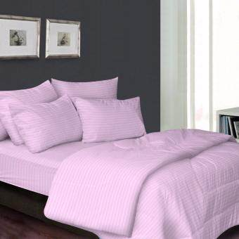 Harga Essina 100% Cotton 680TC Fitted Bedsheet set 33cm + Comforter - Palette Pink Super Single size