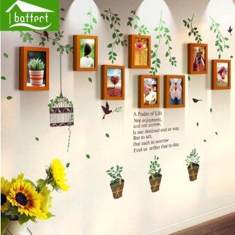 Harga Baffect Garden Wood Photo Frames Wall Decal Sticker- The Sweetest Highlight of Your Home and Family