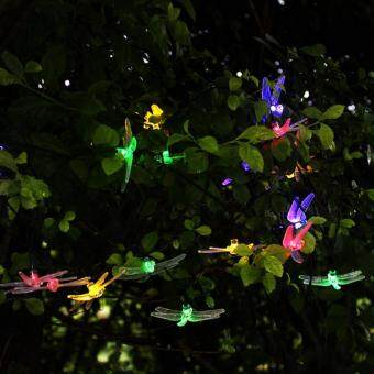 Harga Solar String Lights Dragonfly 20 LED 4.8M Great Kits For Garden Patio