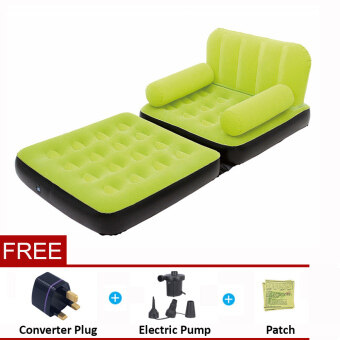 Harga BESTWAY (67277) 5 in 1 Multifunction Inflatable Air Sofa Single Bed Mattress [bc124] - (Green) - Premium