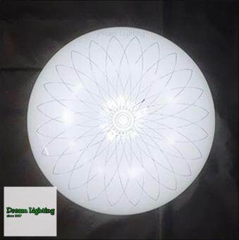 Harga LED 24w Best Seller Round Simple Cozy Creative Living Room Bedroom Fixtures daylight 40cm Daylight (White)