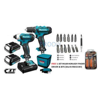 Harga CLX201 12V MAKITA CORDLESS DRIVER COMBO KIT (6 MONTHS MAKITA WARRANTY)+FOC 1 SET 94169 HORUSDY FINDER DRIVER & BITS