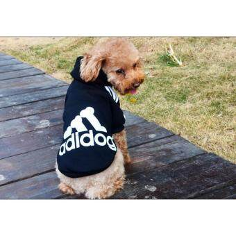 Harga Ai Home Pet Dog Clothing Hoodie Coat Clothes M (Black)