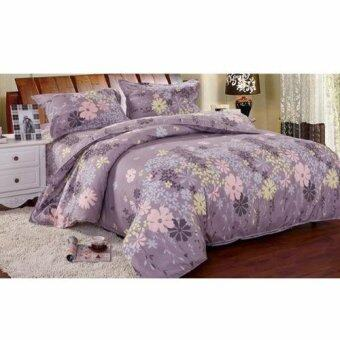 Harga Buy One get One Free! Velvet-Cotton Quilt Cover & Bed Sheet Queen Set (Lavender)