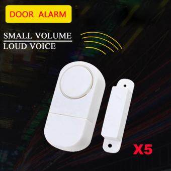 Harga Alarm Systems Door Window Entry Burglar Alarm Wireless Home Security Safety Security Guardian Protector Pack of 5 pcs