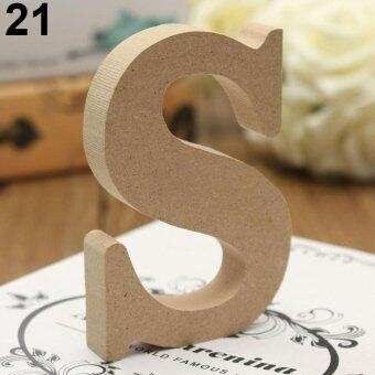 Harga Broadfashion Freestanding A-Z Wood Wooden Letters Alphabet Hanging Wedding Home Party Decor S
