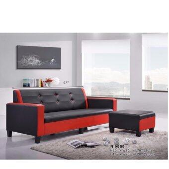 Harga DELUXE & MODERN SOFA 3 SEATER + STOOL - WASHABLE