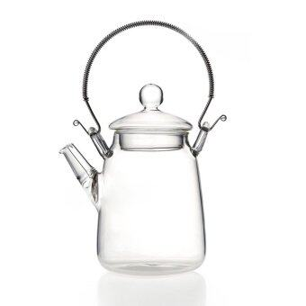 Harga Elegant Glass Teapot Handle Heat Resistant For Blooming Oolong Black tea 350ml