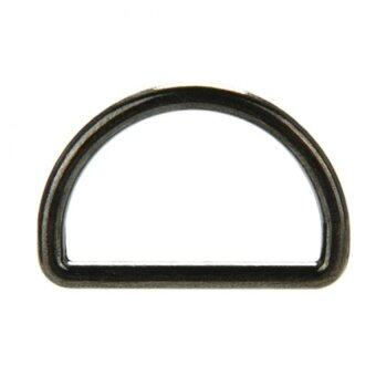 Harga 10pcs 25mm Metal Sliver D Ring backpack D-Ring Buckles For Strapping Black